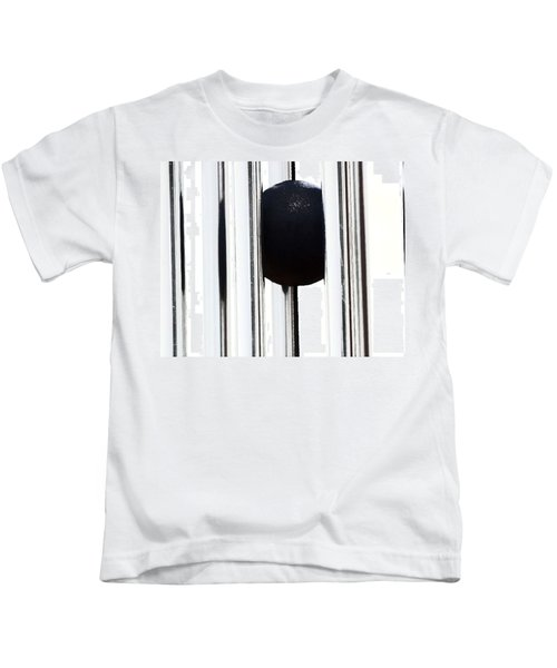 Wind Chime In Black And White Kids T-Shirt