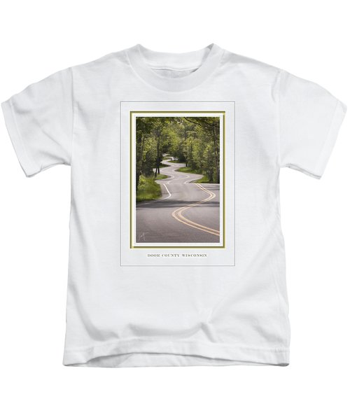 Winding Road Door County Kids T-Shirt