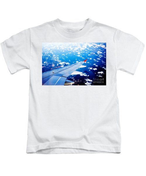 Wings And Clouds Kids T-Shirt