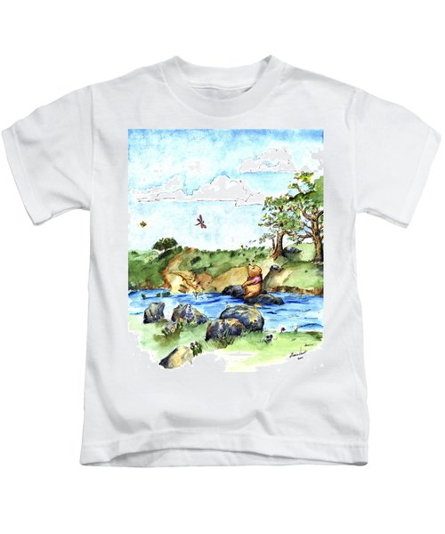 Imagining The Hunny  After E  H Shepard Kids T-Shirt