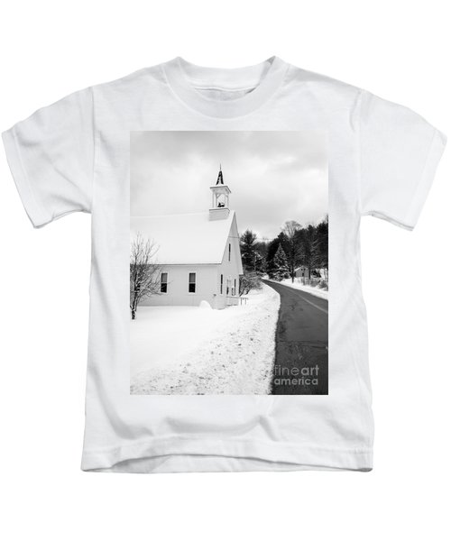 Winter Vermont Church Kids T-Shirt
