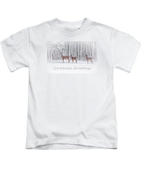 Winter Visits Card Kids T-Shirt