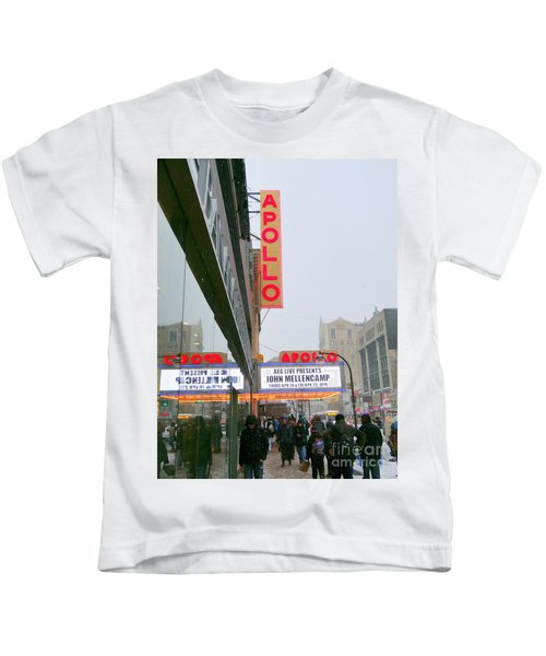 Wintry Day At The Apollo Kids T-Shirt by Ed Weidman