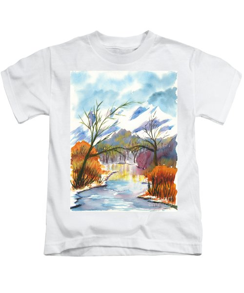 Wintry Reflections Kids T-Shirt