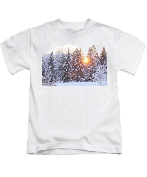 Wintry Sunset Kids T-Shirt