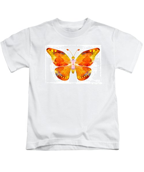 Wisdom And Flight Abstract Butterfly Art By Omaste Witkowski Kids T-Shirt