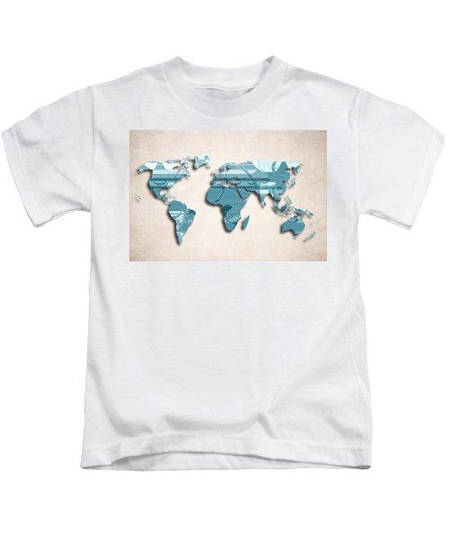 World map paint splashes kids t shirts fine art america world map art ii decorative design kids t shirt gumiabroncs Images