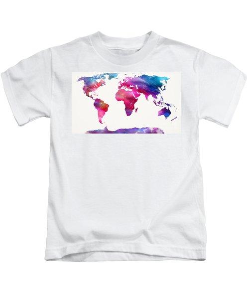 World Map Light  Kids T-Shirt