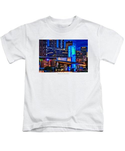 World Of Coca Cola Poster Kids T-Shirt