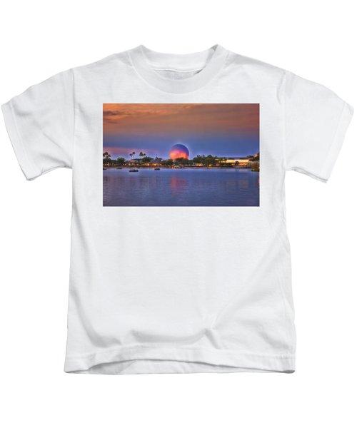 World Showcase Lagoon Sunset Kids T-Shirt