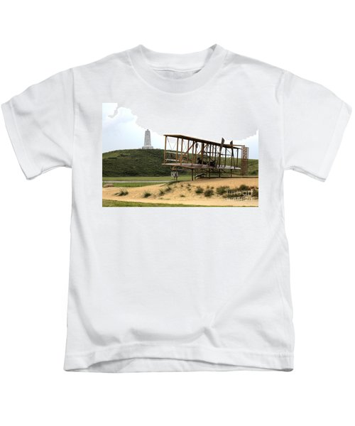 Wright Brothers Memorial At Kitty Hawk Kids T-Shirt