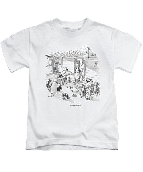 Write About Dogs! Kids T-Shirt
