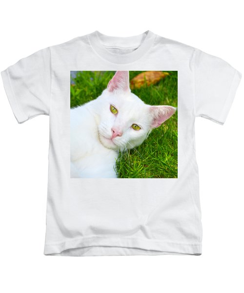 Yellow Eyes Kids T-Shirt