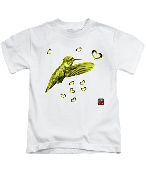 Yellow Hummingbird - 2055 F S M Kids T-Shirt