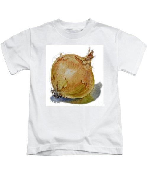 Yellow Onion Kids T-Shirt by Irina Sztukowski