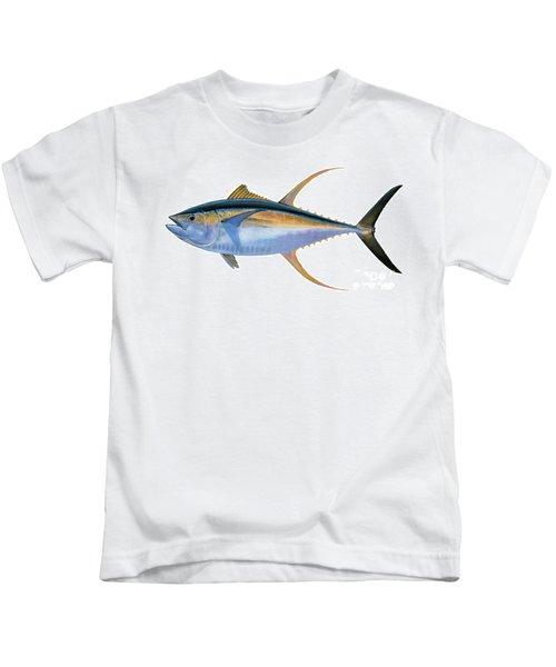 Yellowfin Tuna Kids T-Shirt by Carey Chen