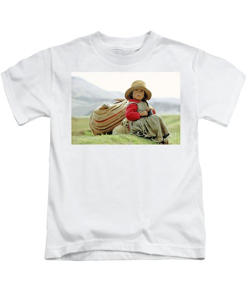 Young Girl In Peru Kids T-Shirt