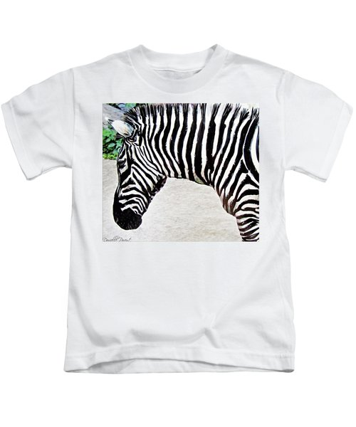 Zebra Alcohol Inks  Kids T-Shirt