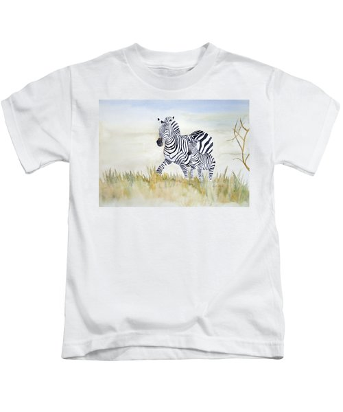 Zebra Family Kids T-Shirt