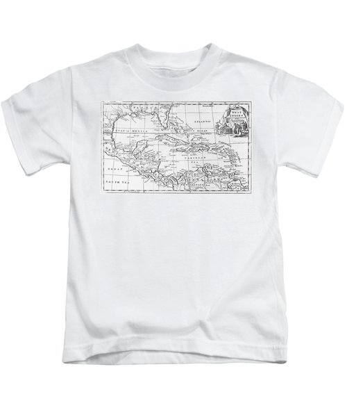 Map Of The West Indies Florida And South America Kids T-Shirt