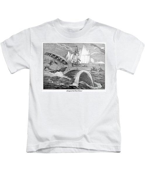 Whaling, 1833 Kids T-Shirt