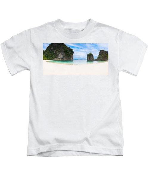 White Sandy Beach In Thailand Kids T-Shirt