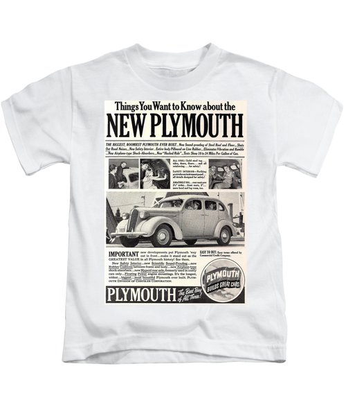 1937 Plymouth  Kids T-Shirt