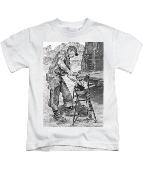 A Man And His Trade - Farrier Art Print Kids T-Shirt