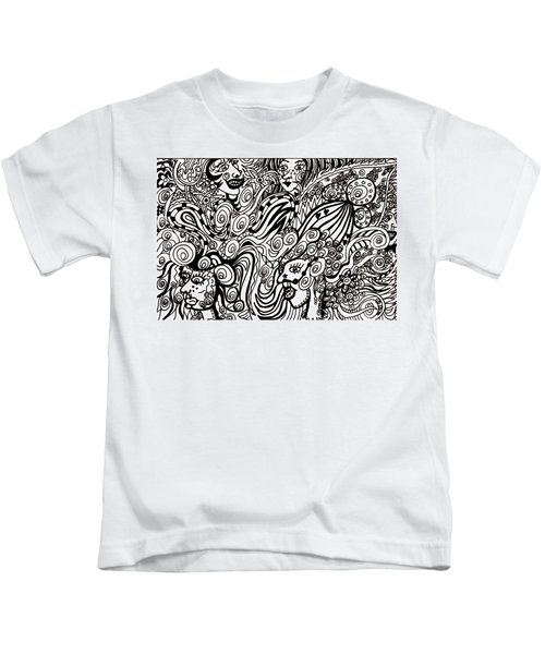 Blowing In The Breeze Kids T-Shirt