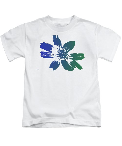 Blue In Bloom Kids T-Shirt