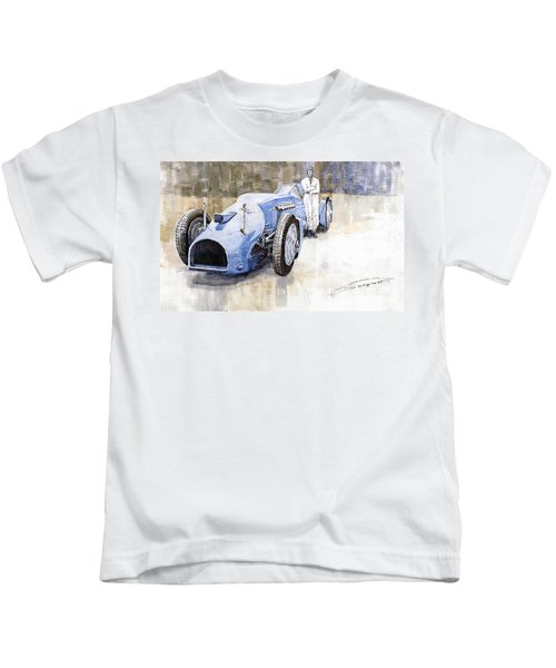 Bluebird 1933 Daytona Malkolm Campbell Kids T-Shirt