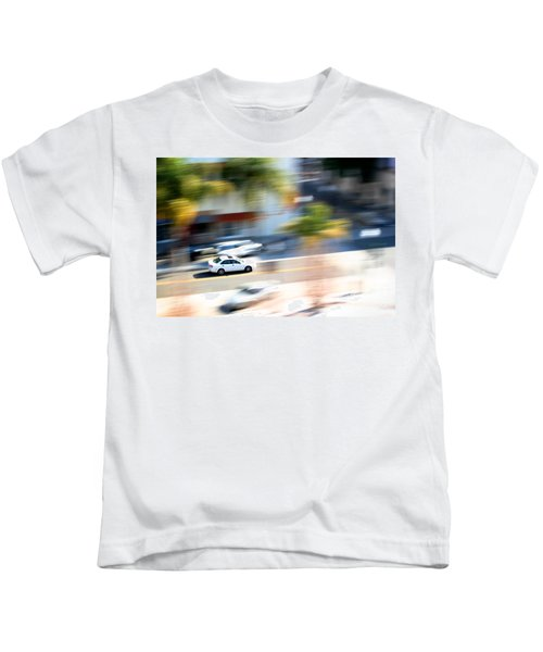 Car In Motion Kids T-Shirt