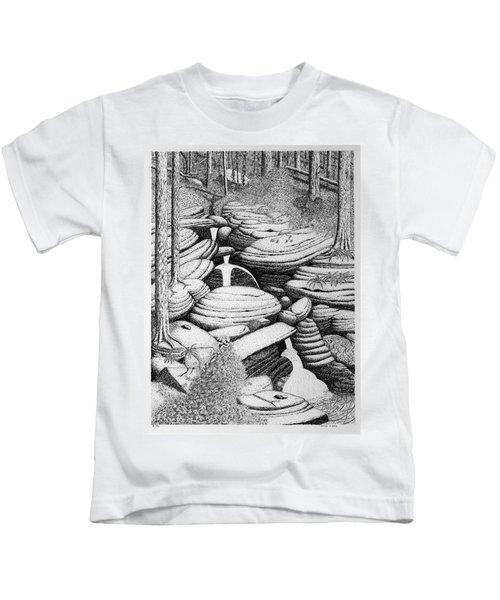 Cascade In Boulders Kids T-Shirt