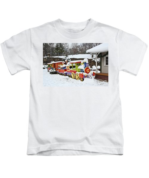 Christmas Train Kids T-Shirt