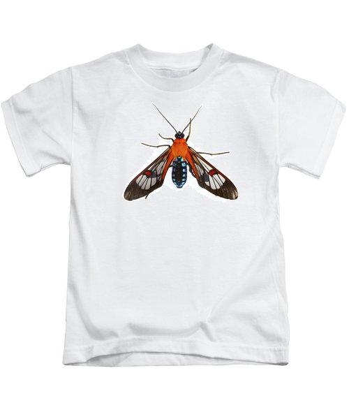 Clearwinged Tiger Mothtapanti Np Costa Kids T-Shirt