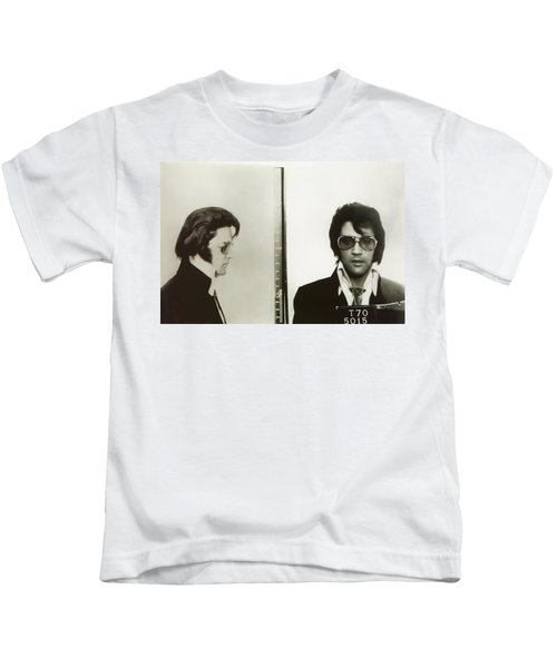 Elvis Mugshot 1970 Kids T-Shirt