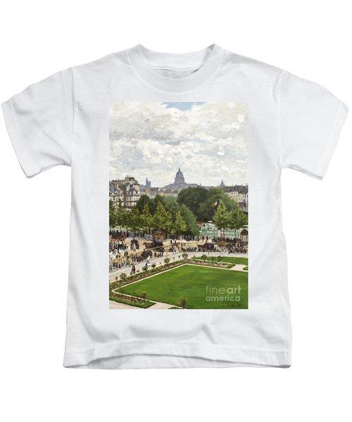 Garden Of The Princess Kids T-Shirt by Claude Monet