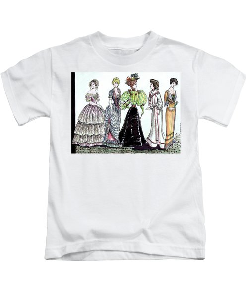 Ladies Of Fashion 1860 To 1910 Kids T-Shirt