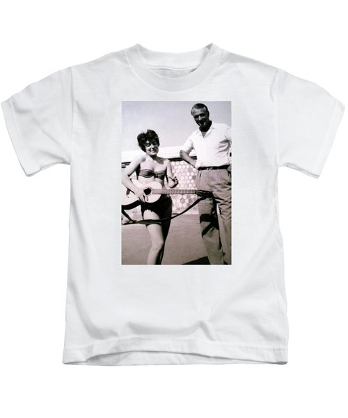 Kids T-Shirt featuring the photograph Mama Chris And Gary Cooper In Monte Carlo 1958 by Colette V Hera  Guggenheim