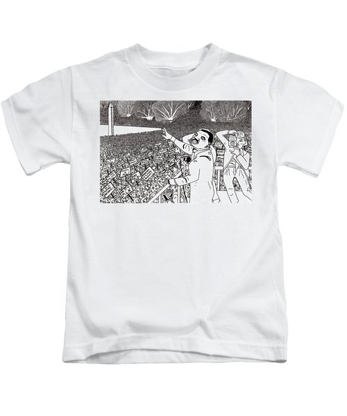 Martin Luther King Drawing Kids T-Shirt
