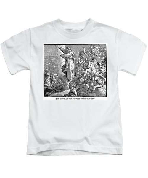 Moses And The Red Sea Kids T-Shirt