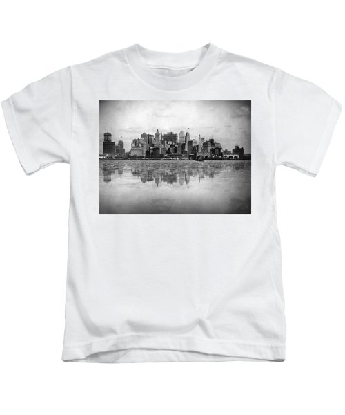 New York Skyline Reflected Kids T-Shirt