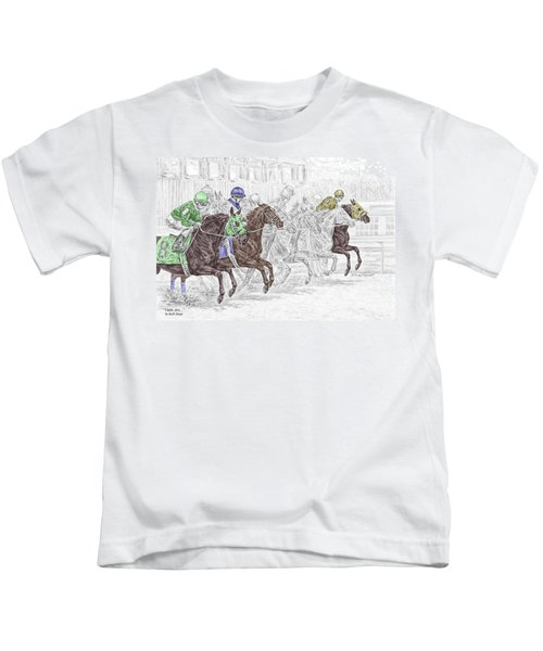Odds Are - Tb Horse Racing Print Color Tinted Kids T-Shirt