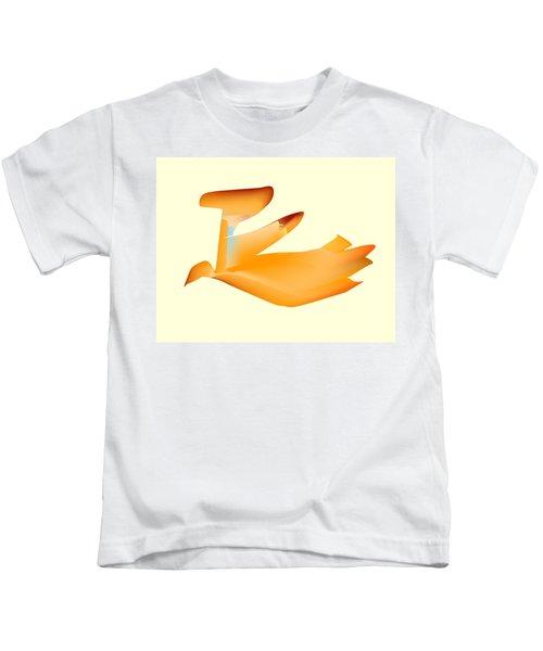 Orange Jetpack Penguin Kids T-Shirt