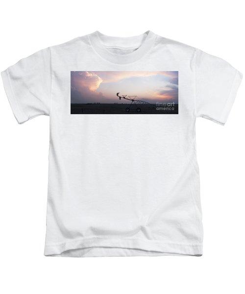 Pivot Irrigation And Sunset Kids T-Shirt