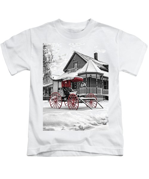 Red Buggy At Olmsted Falls - 2 Kids T-Shirt