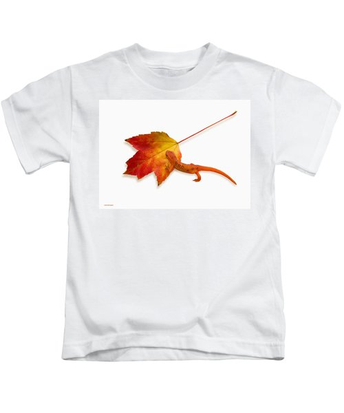Red Spotted Newt Kids T-Shirt by Ron Jones