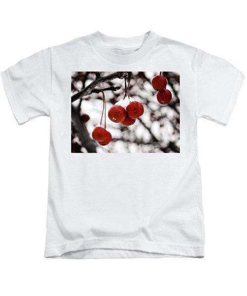 Red Winter Berries Kids T-Shirt