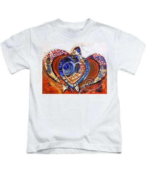 Sea Turtle Love - Orange And White Kids T-Shirt