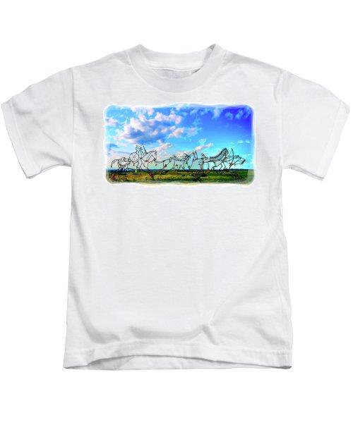 Spirit Warriors - Little Bighorn Battlefield Indian Memorial Kids T-Shirt
